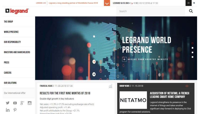 ACQUISITION OF NETATMO