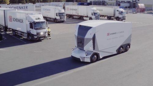 DB Schenker a Einride představují autonomní elektrický nákladní vůz T-pod