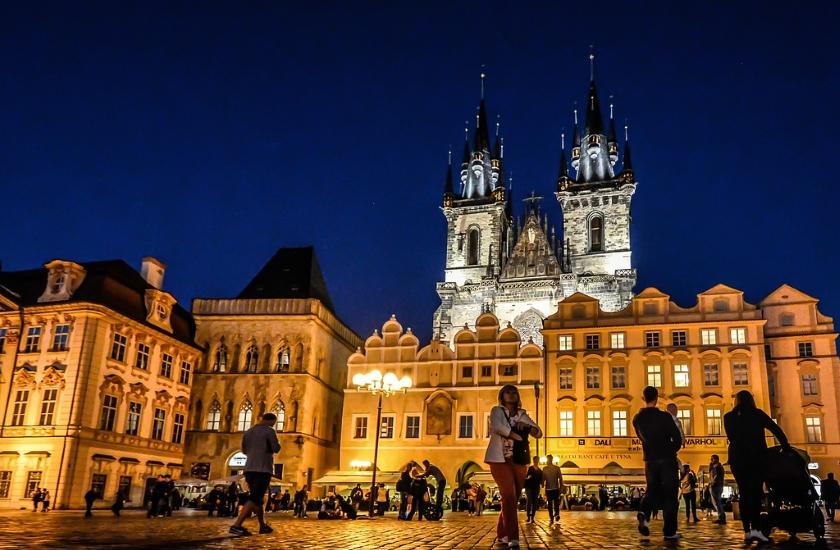 Praha osvětlení