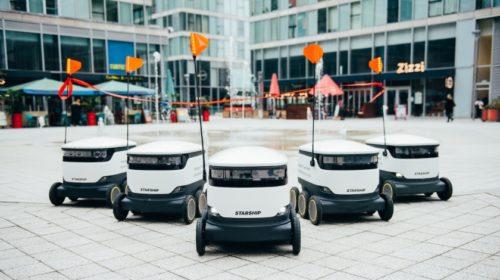 Dodávky roboty v centru Milton Keynes