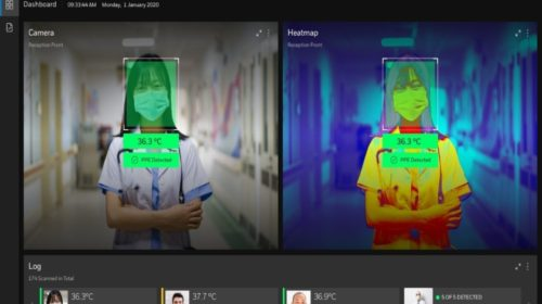 Termokamera s AI detekuje zvýšenou tělesnou teplotu