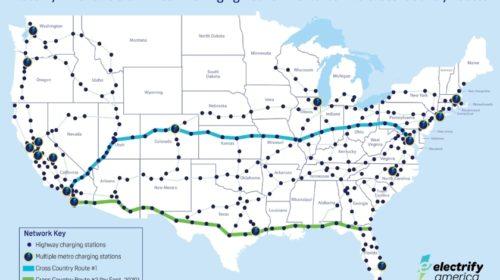Electrify America dokončuje první cross-country nabíjecí trasu